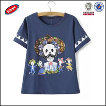newest top fashion girl t shirt of novelty cartoon skull for loose style