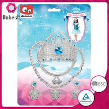 Newest design elsa crown fashion frozen elsa princess tiara with lightful diamond party princess decoration