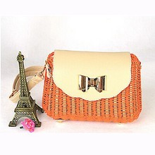 Hotsale fashion rattan handbags straw beach bag export directly from factory T065
