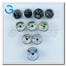 High quality brass nickel plated mini air pressure gauge