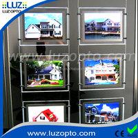 Edgelight LED String Crystal Light Box For Real Estate