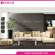 Fashion modern style living room home designer furniture fabric small corner sofa with solid wood and sponge