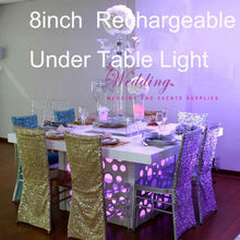 Under Table Lighting 8inch LED flower stand for wedding