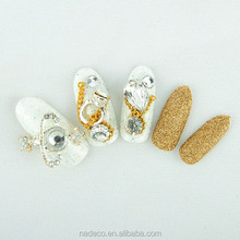 3D bling bling diamond false nail tips artificial nails pictures WX-008