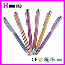 Fashion style cheap crystal bling stylus pen metal twist pen for promotional gifts