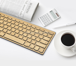 Trade assurance Popular Wireless Bamboo bluetooth keyboard for IPad