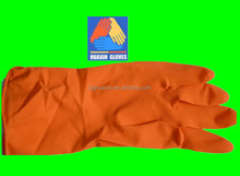latex rubber coated work gloves;Cheap red Latex Household Glove;brush cleaning glove