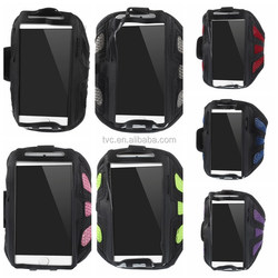 Green Sweat-absorbent Mesh Gym Sports Armband Case for iPhone 6 4.7 inch / Samsung Galaxy S5 G900 / S4 I9500 Etc.