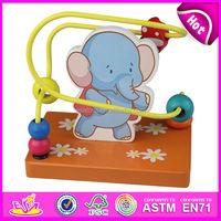 2015 New play kids wooden toy maze,popular children bead wooden toy maze set,hot sale baby Mini wire wooden toy maze W11B017