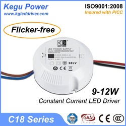 31 KEGU C18 9-12W 300mA Constant Current LED Driver led driver constant current(Flicker-free) with TUV CE SAA