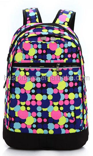 Belle Dots impression enfants sac d'école / sac d'école pour adolescente