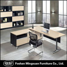KTB0118 Mingxuan unique L shape metal base executive office desk