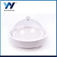 Taiwan best with acrylic cover flat white porcelain coffee cup & cake plate