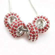 2012 new wholesale and fashion Rhinestones Charms European Beads Fit Jewelry Making for bracelets or necklace pendants 8002
