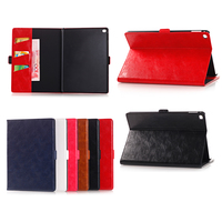Wallet Style Crazy Horse Magnetic Oil Wax Flip Stand PU Leather Case for iPad Mini 4