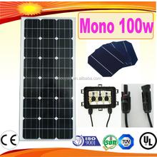 high efficiency 100w solar panel mono solar panel 100w for solar street lights