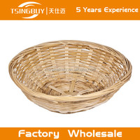 Hot factory 100% pure handcraft natural rattan wicker bread basket/handmade willow storge baskets/corn leaf basket