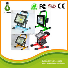 Best sellers portable waterproof 10W led flood lighting indoor/outdoor led light rechargeable