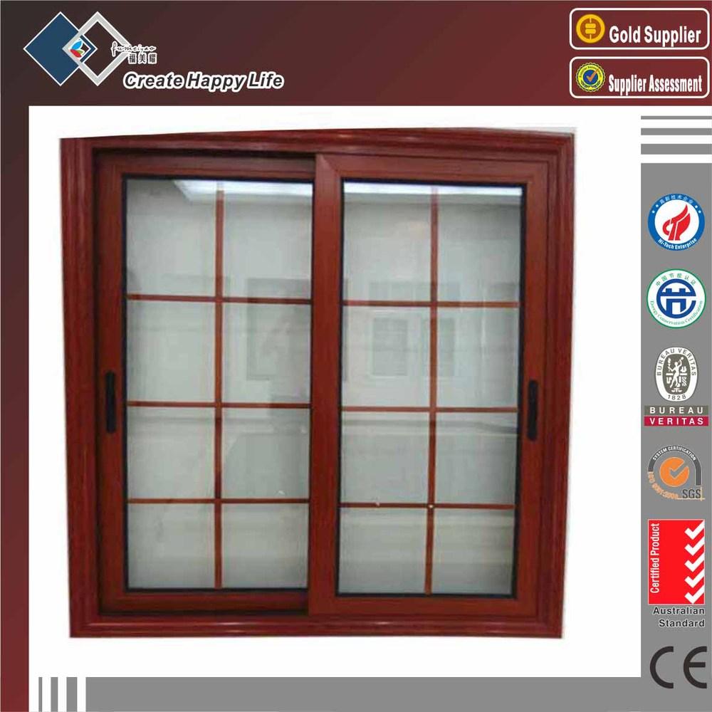 Exterior Slide Type Aluminum Frame House Window Grill