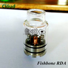 Factory price aris rda rebuildable atomizer full glass cap & drip tip fishbone rda