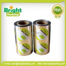 aluminum foil lids for set yoghurt