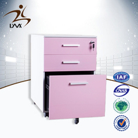 Importer of chinese furniture cheap mobile cabinet furniture metal 3 drawer cabinet/pedestal