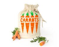 Eco friendly hemp organic cotton reusable drawstring bag, Fresh produce storage sack, Food storage