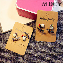 MECY LIFE 2015 wholesale cheap cute letter metal cow cartoon earrings