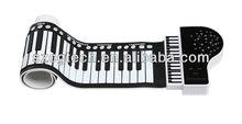 waterproof flexible keyboard piano/61 keys roll up piano keyboard/folding piano
