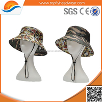 reversible double sided camo printed bucket hats adjustable colorful bucket hat for spring