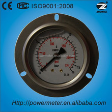 60mm wika type stainless steel case axial mounting oil filled pressure gauge of bourdon tube manometer