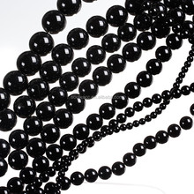 Wholesale Semi-precious Round Natural Black Agate Gemstone Beads for Jewelry Making