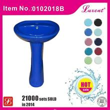 High quality hand control perfect ceramic art pedestal basin