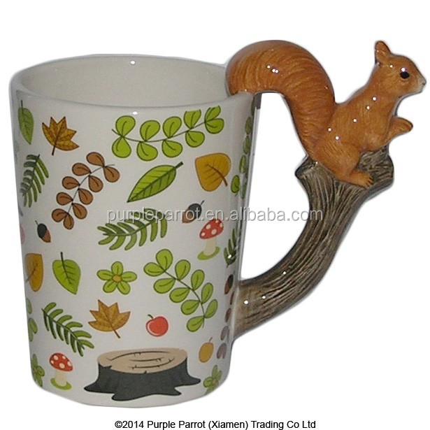 Woodland animals squirrel shaped handle mug buy animal for Animal shaped mugs