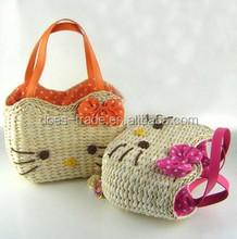 Simple natural corn husk straw bag