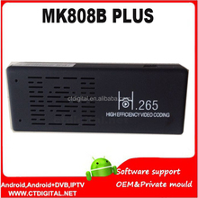 iptv chinese hongkong decode H.265 MK809 TV Stick Bluetooth Amlogic M805 Quad Core Android 4.4 Mini PC Quad core MK808B Plus