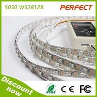 Hot products!Dmx Ws2812 Rgb Led strip 5050 digital led strip 5v 30led/60led/120leds /m 90w for christmas decration