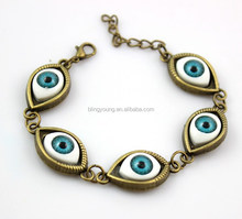 Fashion brand alloy devil eye bracelet chain buckle