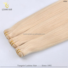 Hot Sale Own Brand Soft Smooth Quality+Products Factory Sale white blonde human hair extensions