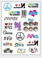 Free shipping wholesale 500sheets A4 temporary tattoo sticker movie stars concert stickers gift for 2PM teens fans