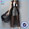 Yihao Fashion Women mesh Evening Party Cocktail Prom sleeveless Casual long Dress