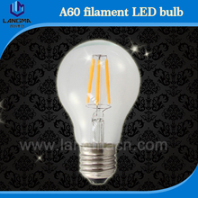 E27 LED Filament Light Glass Housing Bulb Lamps 220V 4W 5W 6W 8W 360 Degree Edison chandelier Replace Incandescent Dimmable