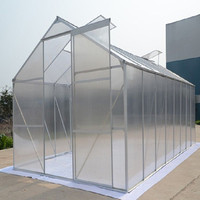 Modern Low Cost Greenhouse With Poly Film and Galvanized Steel Frame