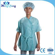 kısa sleevesl laboratuvar önlüğü hastane üniforma