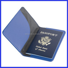 new disign blue Cheap and PU leather Passport Cover