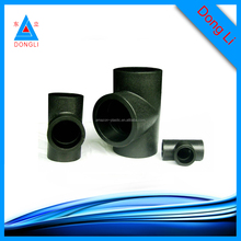 black HDPE injection butt fusion equal tee pe pipe fittings