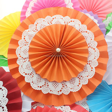 New Design Wedding Party Supplies Hanging Ceiling Paper Party Decoration Paper Fans