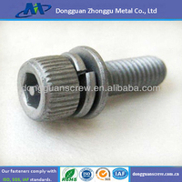 Pin hole socket head cap screw with washer