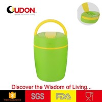 office lady food storage container with handle