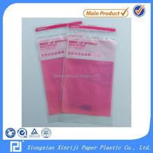 Pink Printed Grocery Transport Slide Zip Lock Plastic Bag